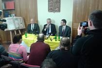 Prezident Miloš Zeman při závěrečné tiskové konferenci