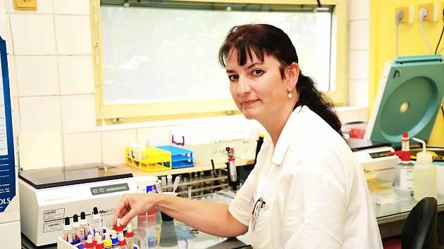 MUDr. Zuzana Fialová, primářka transfuzního oddělení Nemocnice Sokolov.