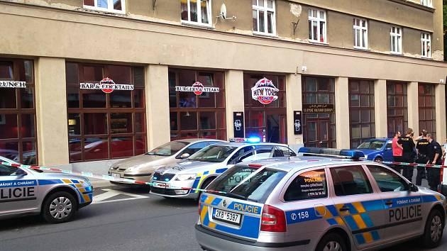 Místo incidentu v karlovarské ulici I. P. Pavlova