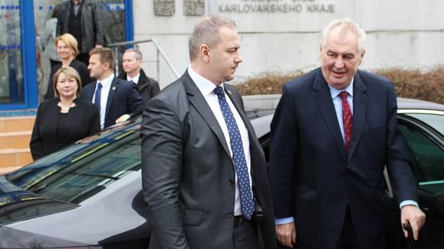 Třetí den návštěvy prezidenta Miloše Zemana v Karlovarském kraji