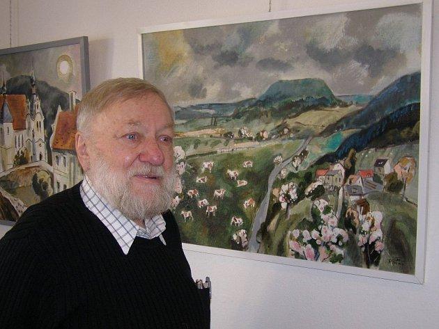 Petr Strnad vystavuje ve žlutické galerii.