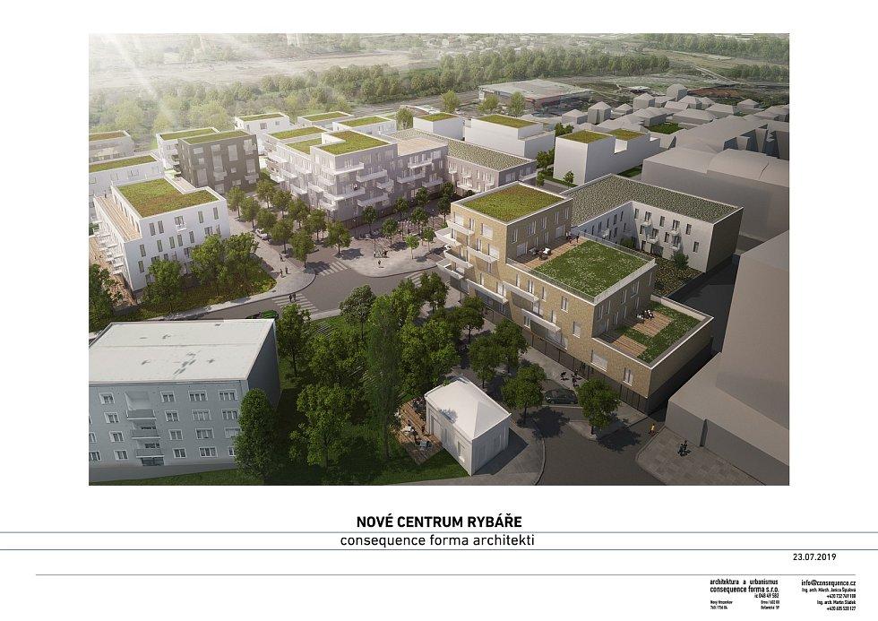 Tak by mohla vypadat nová bytová čtvrť v Rybářích.
