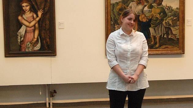 Terezie Riedlová z karlovarské zdravotnické školy připomněla Šimka a Grosmanna.