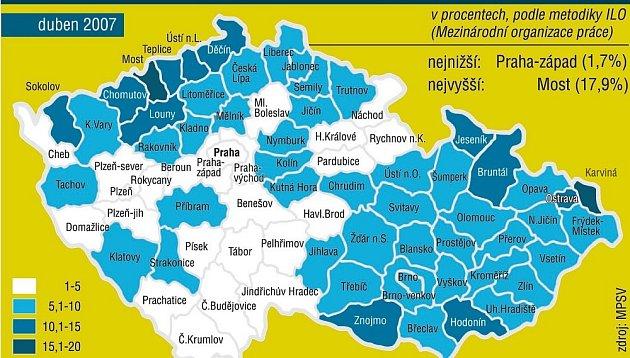 Mapa Pracovního uplatnění.