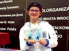 Šermířka Anita Adamcová se zaskvěla na turnaji v polské Wroclawi.