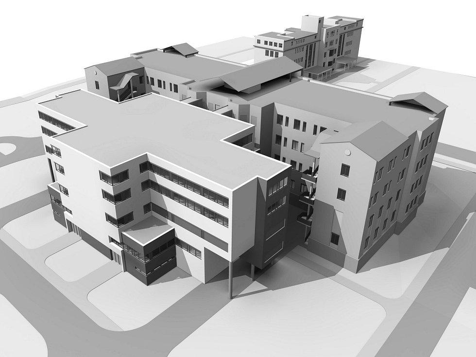 Karlovarská krajská nemocnice dokončení revitalizace areálu nemocnice v Chebu.