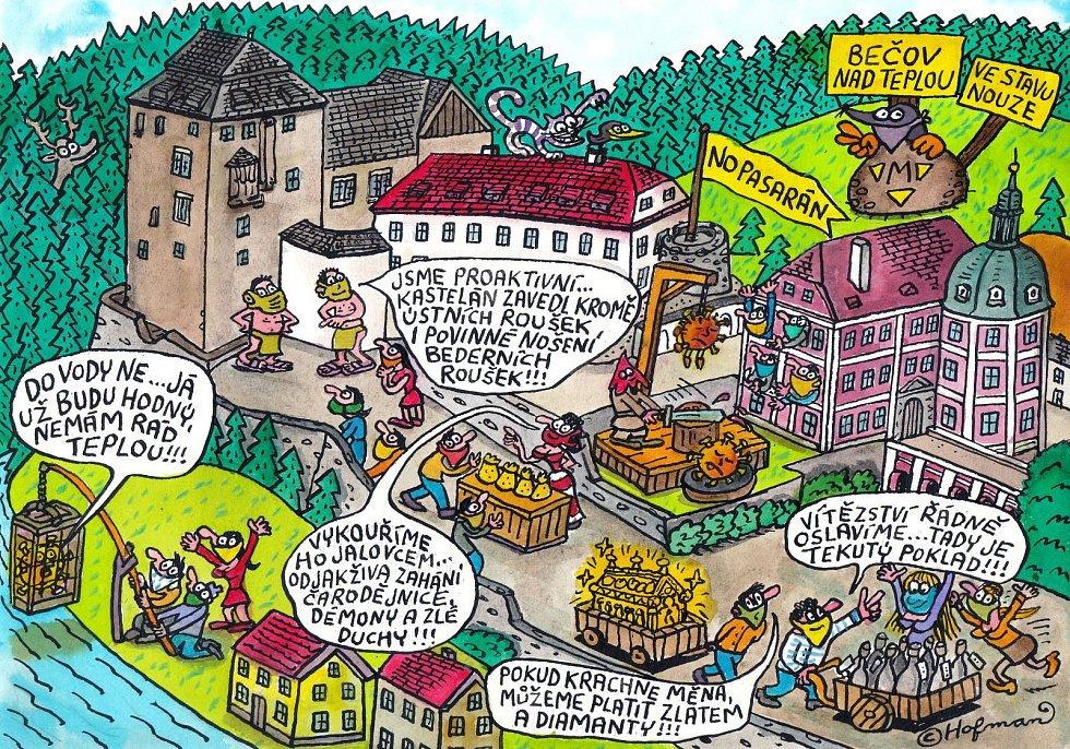 PAMÁTKÁŘI společně s vydavatelstvím Ivana Rillicha a s oblíbeným českým karikaturistou Zdeňkem Hofmanem připravili pro veřejnost speciální kreslenou anekdotu pro dnešní dny.