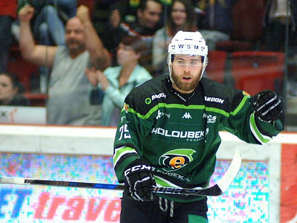 HC Energie (v zeleném) hostila Duklu JihlavaPetr Stloukal