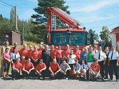 Jednotka sboru dobrovolných hasičů z Pozorky.