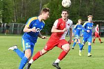 V souboji třetiligových týmů uspěla karlovarská Slavia, která porazila Teplice B 2:0.