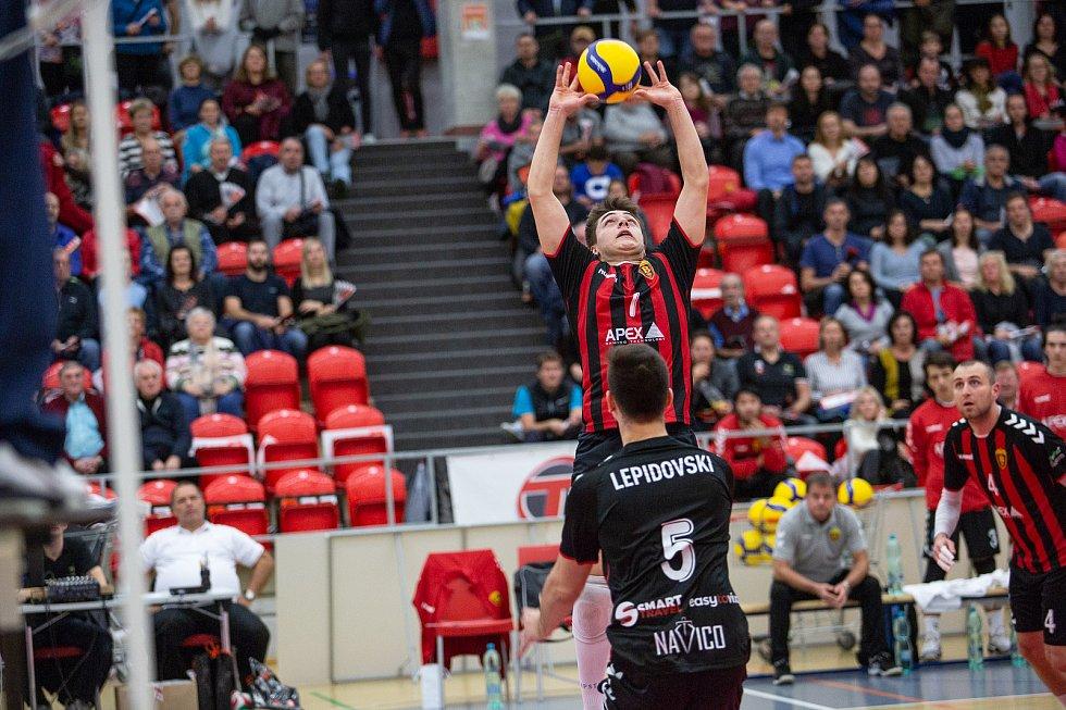 První pohárové utkání s Vardarem přetavilo Karlovarsko v jednoznačnou výhru 3:0.