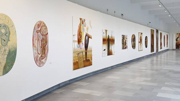 Výstava s názvem Hnědá duha je k vidění v karlovarské galerii.