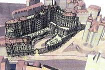 Tak to je Grand Majestic. V proluce vedle kostela sv. Maří Magdaleny (budova se dvěma věžemi v vpravo) by měl vyrůst obří superhotel. Už nyní ovšem tento projekt vzbuzuje protesty a hydrogeologové neskrývají obavy.