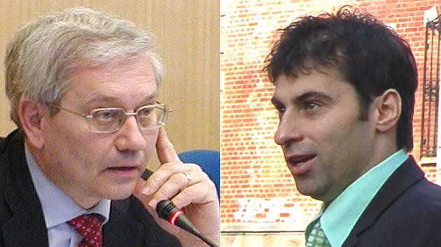 Rivalové? Vlevo hejtman Josef Pavel, vpravo Tomáš Hybner, náměstek primátorky města.