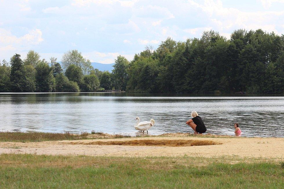 Kemp pronajalo město před čtyřmi lety. Nachází se přímo u Novorolského rybníku.