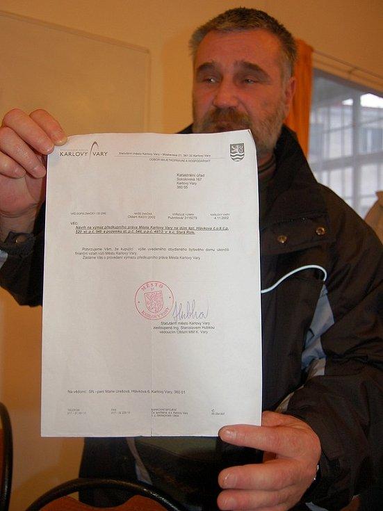 Vedení města se nespokojilo s doklady, které předložil Ivan Doleček (na snímku).