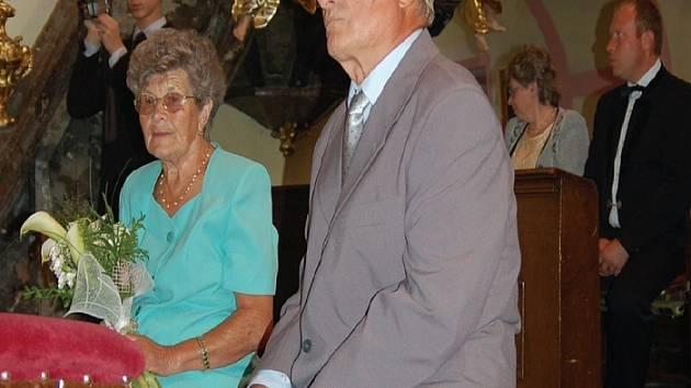 Manželé František a Růžena Kamarádovi jsou svoji už 55 let.