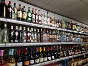 Prodejna, kde objevili celníci alkohol bez potřebných dokladů.