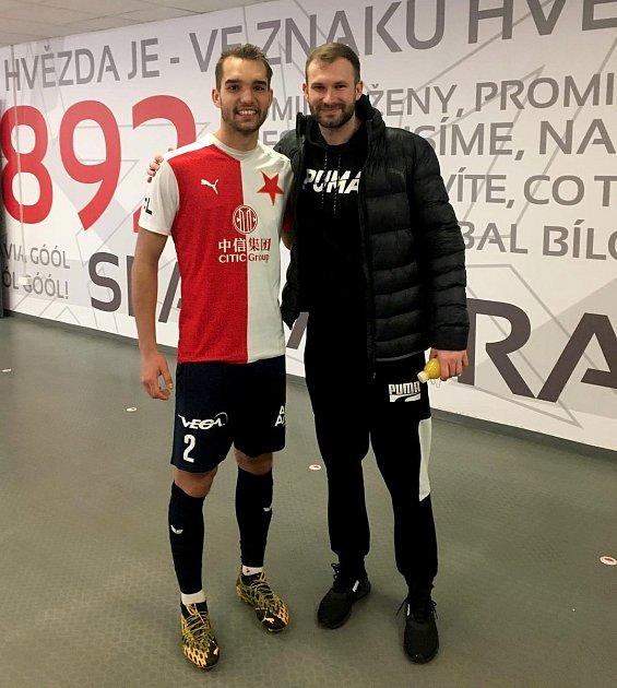 Mikuláš Jáša, obránce FC Slavia Karlovy Vary.