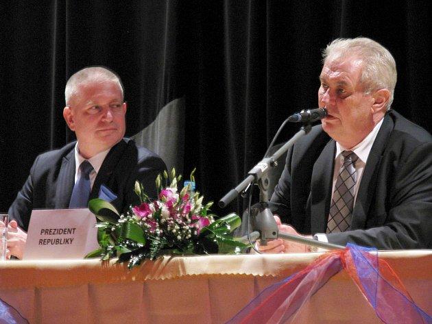 Prezident Miloš Zeman v Nejdku
