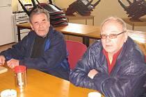 Dva pamětníci. Jaroslav Hnojský (vlevo) a Jaroslav Šašek.