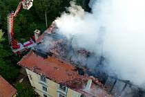 Požár zámku v Sedleci.
