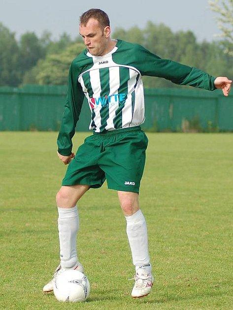 I v utkání v Bochově nevyšel kanonýr Sedlece Lukáš Berger (na snímku) střelecky naprázdno.