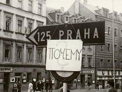 Srpen 1968 v Karlových Varech.