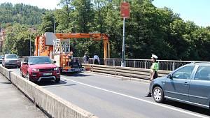 Kontrola na Chebském mostu