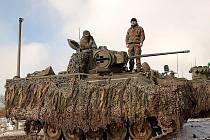 Cvičení belgických vojáků ve vojenském výcvikovém prostoru Hradiště na Karlovarsku