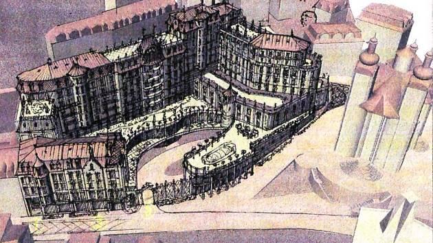 Malé Las Vegas. Tak někteří Karlovaráci nazývají hotel Grand Majestic, který chce investor postavit vedle kostela sv. Maří Magdaleny naproti Vřídelní kolonádě.