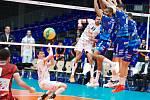 Volejbalisté Karlovarska předvedli v souboji s italským Trentinem srdnatý výkon, ale ani to na favorizovaný tým Ligy mistrů nestačilo a i napodruhé mu podlehli 1:3 na sety.