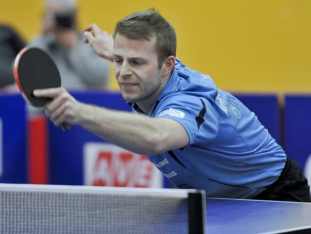 Lídr mužstva stolních tenistů z Františkových Lázní Antonín Gavlas mladší.