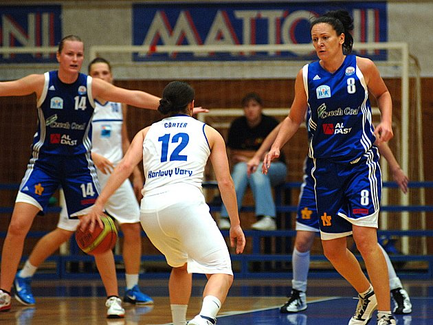 Basketbal, ŽBL: BK Lokomotiva K. Vary – BK Strakonice.