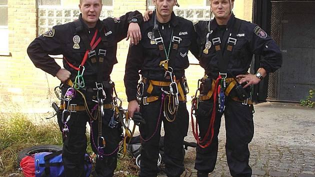 Bronzový tým. Zleva: Dalibor Petrides, Petr Šusta, Pavel Zelenka.