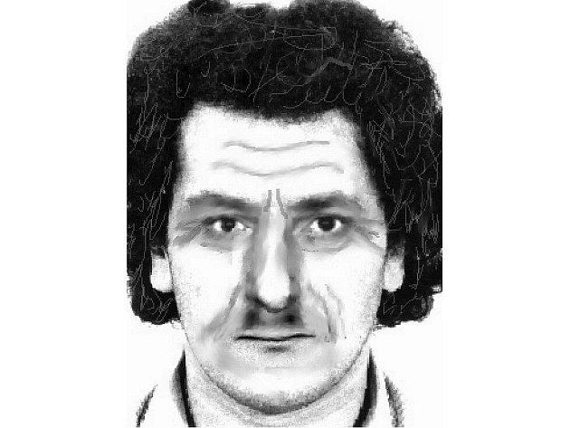 Identikit pachatele, který přepadl poštu v Tašovicích.