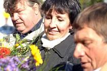 Přivítání žokeje Josefa Váni, sedminásobného vítěze Velké pardubické, v Chyši