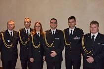 Ocenění hasič (první zleva)  z Karlovarského kraje s kolegy z celé republiky.