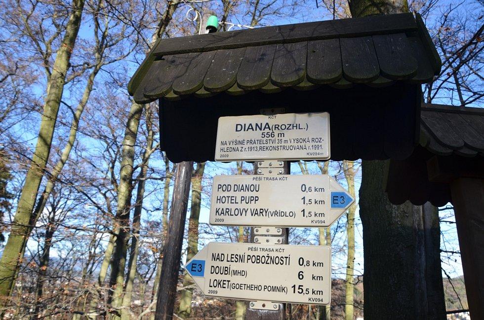Rozhledna Diana je nejznámější vyhlídkovou stavbou Karlovarského kraje.