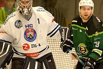 Hokejisté karlovarské Energie (v zeleném) smázli Benátky rozdílem třídy.