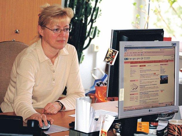 Český statistický úřad testuje nové webové stránky. Podle Ivy Veselé (na snímku) by je mohli uživatelé poprvé vyzkoušet nejdříve za měsíc.