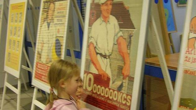 Výstava 'Budovatelský plakát'.