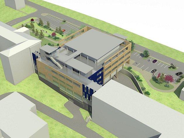 NOVÝ PAVILON. Takhle by měl vypadat nový pavilon urgentní medicíny v karlovarské nemocnici. Bude stát půl miliardy korun. Přestože hodnotící komise už vítěze tendru doporučila, smlouva dosud podepsána nebyla.