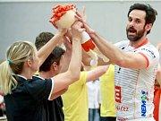 ONDŘEJ HUDEČEK, hráč VK ČEZ Karlovarsko, vede i v letošní volejbalové sezoně tým v roli kapitána.