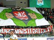 Hokejisté HC Energie (v zeleném) hostili Jihlavu. Fanoušci HC Energie
