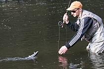 NA PSTRUHY se vydaly v Karlovarském kraji se zahájením sezony stovky rybářů.