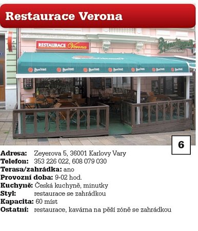 6. Restaurace Verona