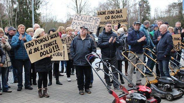 Protest u letiště