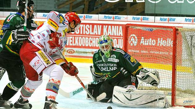 Zápas 46. kola hokejové extraligy HC Oceláři Třinec – HC Energie Karlovy Vary.