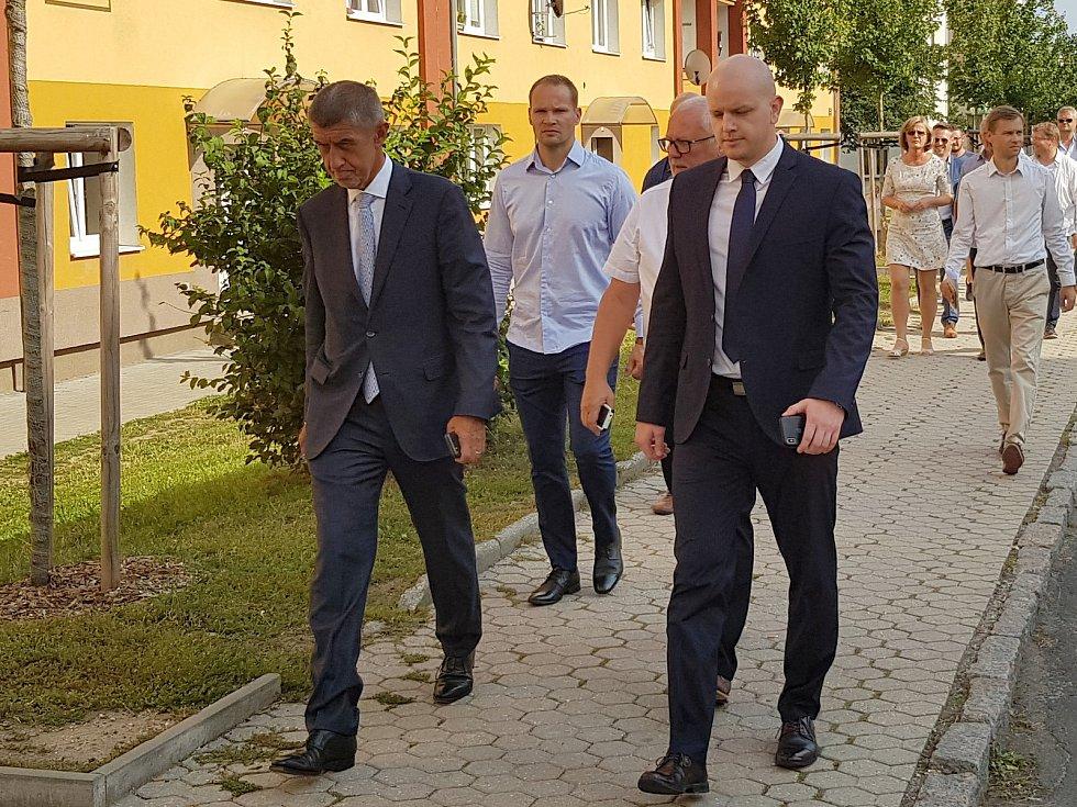 Andrej Babiš při návštěvě Rotavy